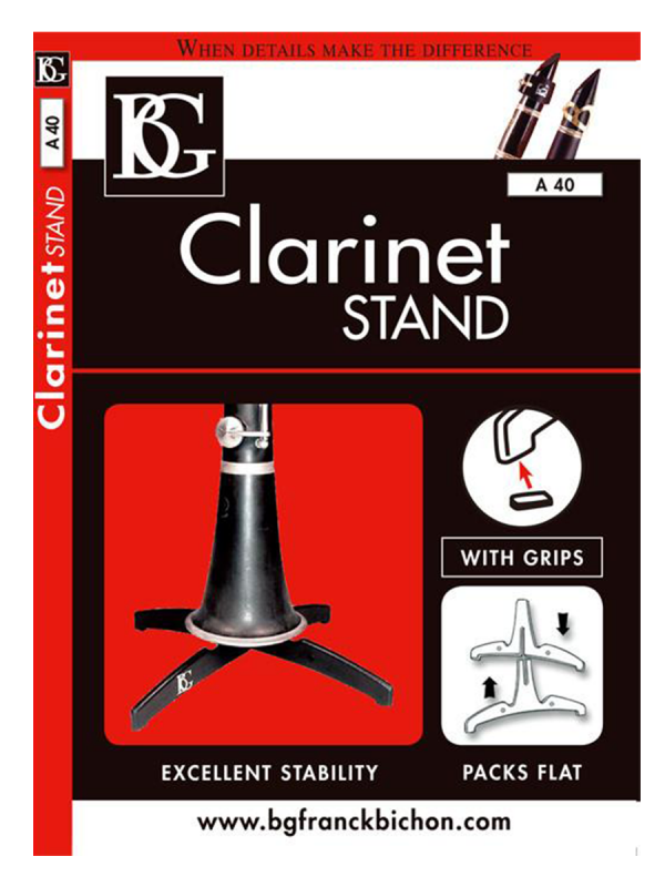 BG Compact Clarinet Stand with Grips