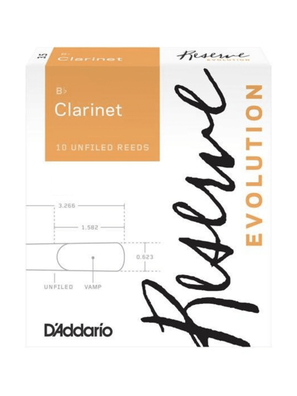 D'Addario Reserve Evolution Bb Clarinet Reeds (1 Reed Only)