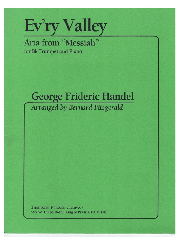 """Ev'ry Valley from """"Messiah"""" for Trumpet & Piano - G. F. Handel"""