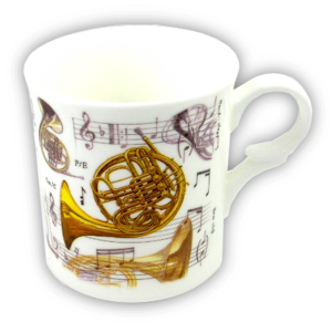 Mug with French Horn Design