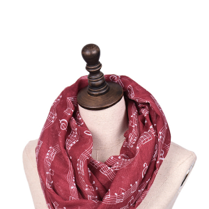 Infinity Scarf Voile Music Notes - Different Colours