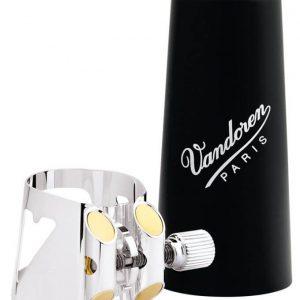 Vandoren Optimum Bb Clarinet Ligature Silver Plated with Cap