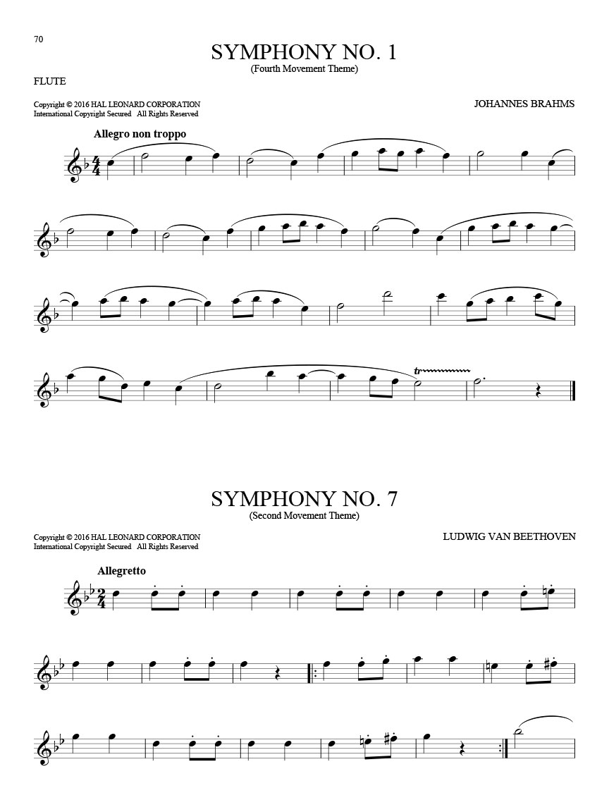 101 Classical Themes for Flute Solo