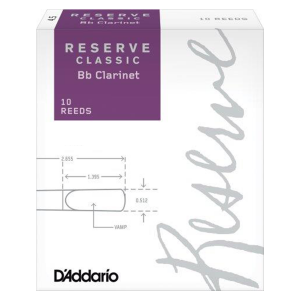 D'Addario Reserve Classic Bb Clarinet Reeds (1 reed)