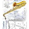 Greeting Card Saxophones & Music Notes