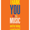 """Greeting Card """"Thank You for the Music"""""""