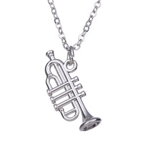 Trumpet Necklace & Pendant Silver