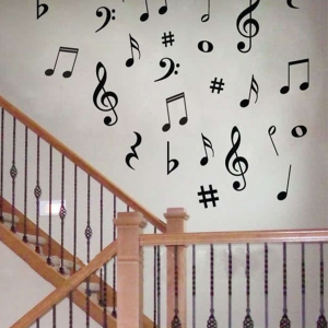 Music Symbols Wall Stickers Decal