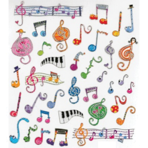 Funky Groovy Whimsy Music Stickers