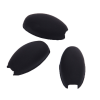 Saxophone Palm Key Risers Black Rubber