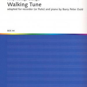 Percy Grainger Walking Tune Flute Recorder Piano