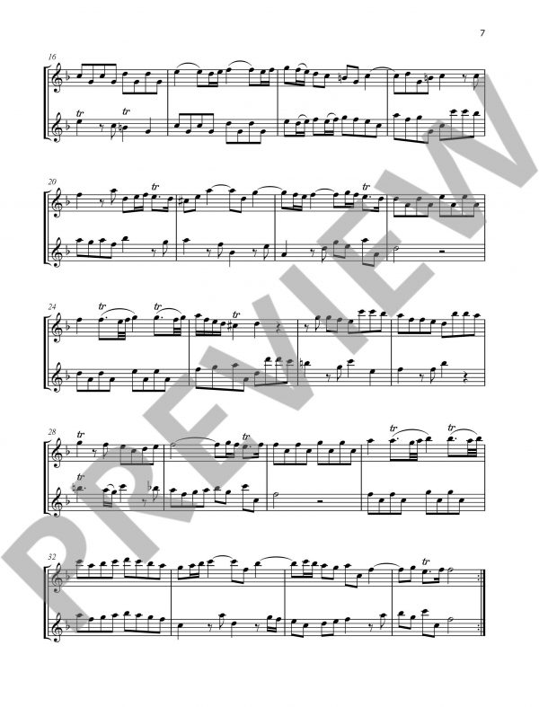 Duets for Fun for 2 Flutes Sample 2