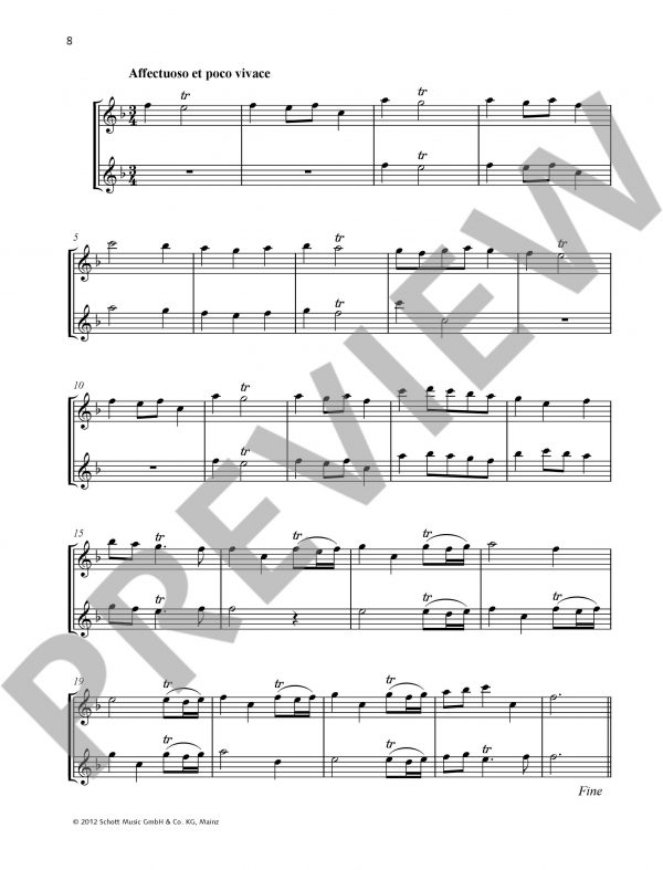 Duets for Fun for 2 Flutes Sample 3
