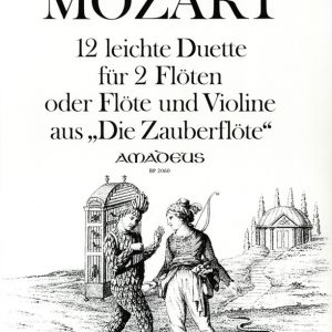 Mozart 12 Easy Duets from the Magic Flute for 2 Flutes